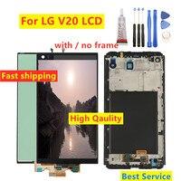 Wysoka Qaulity dla LG V20 wyświetlacz LCD VS995 VS996 LS997 H910 ekran dotykowy Digitizer z ramą kompletne części zamienne w Ekrany LCD do tel. komórkowych od Telefony komórkowe i telekomunikacja na