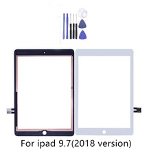 For iPad 9.7 (2018 Version) For iPad 6 6th Gen A1893 A1954 Touch Screen Digitizer Front Outer Panel Glass With 2Gifts a1893 a1954 for ipad 9 7 2018 touch screen glass digitizer panel replacement for ipad 6 6th gen a1893 2018 version touchscreen