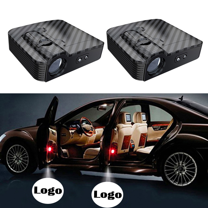 2Pcs Car Door Welcome Light Universal Wireless Car Projection LED Projector Logo Light Suitable For Jeep//Ford//Honda Benz