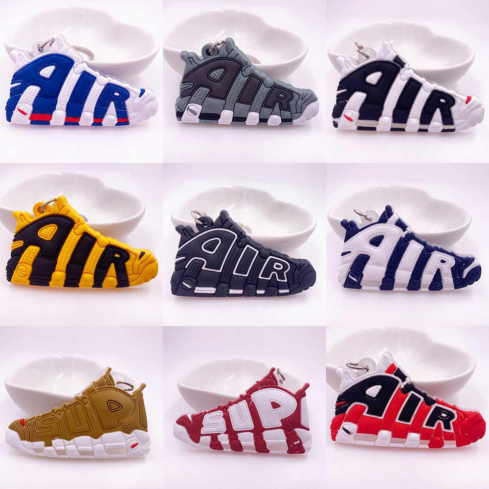 Nouveau Mini AIR chaussure blanc cassé porte-clés hommes femme enfants cadeau porte-clés rétro basket-ball Sneaker porte-clés Porte Clef