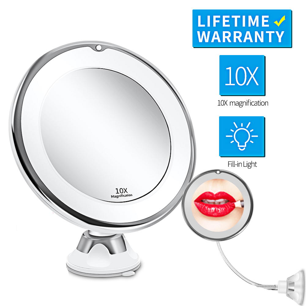 LED Mirror Makeup Mirror with LED light vanity Mirror 7X Magnifying Mirror LED Miroir Grossissant Magnifying Dropshipping Vip(China)