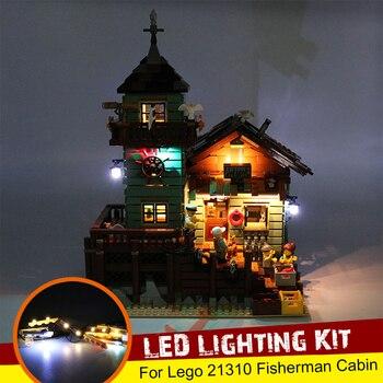 Kit de iluminación LED USB solo para 21310 para Fisherman Cabin Fishing Store juguete de bloques de construcción ladrillos (no incluye el modelo)