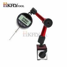 0-25,4mm esfera Digital indicador 0-12,7mm/0,5 ''0,01 con Mini Base magnética soporte de imán medidor de pinza de herramientas de medición