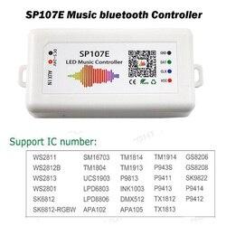 SP107E LED z Bluetooth pilot do muzyki w pełnym kolorze Pixel IC kontroler SPI 5-24V aplikacja na smartfona dla WS2812 WS2813 SK6812 taśmy LED