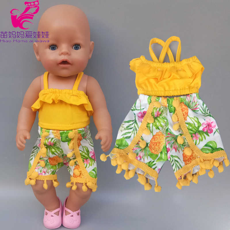 43 cm baby doll summer clothes Hairball short 18 inch girl og doll clothes trousers