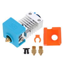 1 Set Extruder Hot End Kit Heating Block Nozzle Silicone Cover for 3D Printer