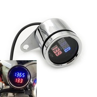 New Motorcycle Meter Refit Digital Tachometer Lingua Electronic Tachometer With Voltage 50Cc 250Cc|Tachometers| |  -