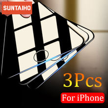 Suntaiho 3 шт. Защитное стекло для iPhone 11 Pro Max XR X XS защита для экрана из закаленного стекла для iPhone 7, 8, 6, 6s, Plus, 5, 5S SE защита для экрана