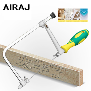 AIRAJ Multi-function U-saw Presents a No. 1 Saw Blade for Woodworking Cutting Wood PVC Acrylic Plastic Pull Flower MiNi Hand Saw(China)