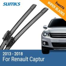 """SUMKS escobillas de limpiaparabrisas para Renault Captur, compatible con bayoneta de 26 """"y 16"""", brazos de bloqueo nuevos, tipo 2013, 2014, 2015, 2016, 2017, 2018"""