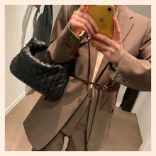 2020 New Women Handbag Luxury Brand Woven Cloud Bag 100% Genuine Leather Leather Shoulder Bag Fashion All-match Party Bag Spot