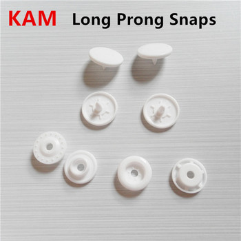 Chenkai 1000 sets T5 tamaño 20 Kam Long Prong Snaps redondo brillante resina plástica sujetadores de botones prensa Stud bebé niños Snaps