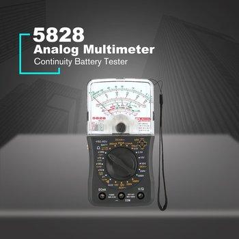 Mini Handheld Analog Multimeter AC/DC Voltmeter Amperemeter Widerstand Kontinuität Kapazität Batterie DB Kapazität Tester