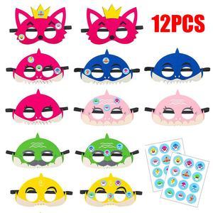 Image 1 - 12 шт., Детские фетровые маски «маленькая Акула»