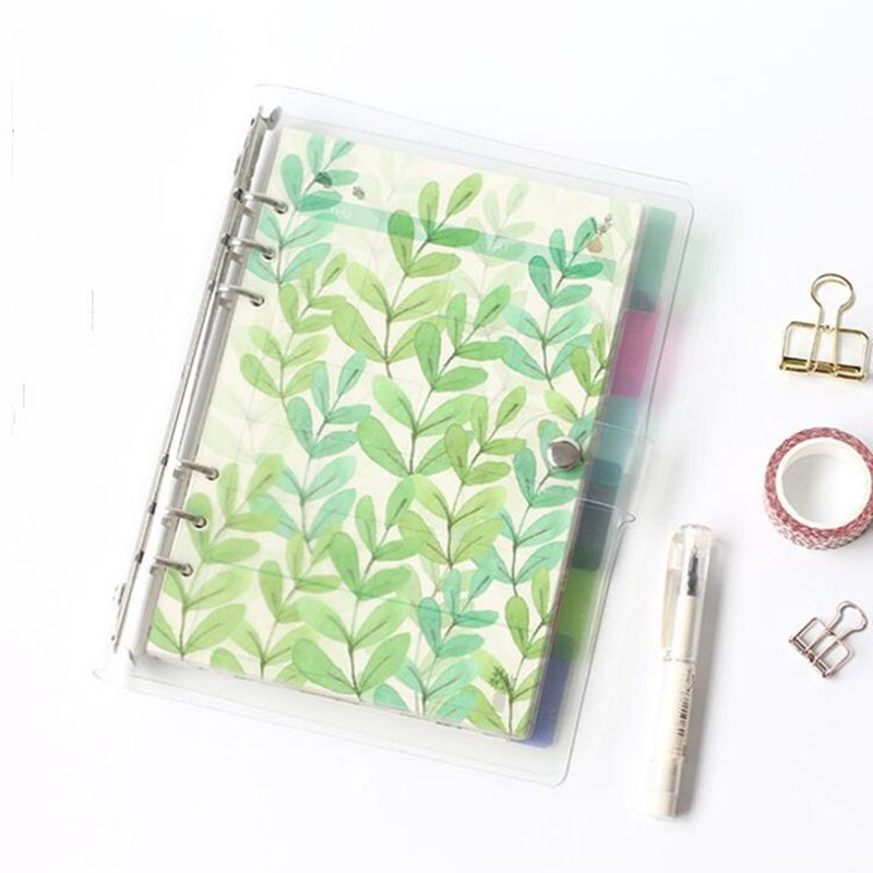 6 Pcs/set A5 A6 PP Notebook Index Page Spiral Diary Planner Note Book Pages Notebook Divider School Stationery