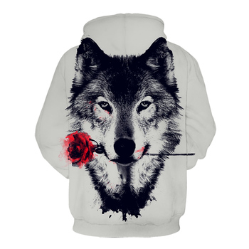 2020 Autumn Men's Hoodie 3d Printing Wolf Head Men's And Women's Sweatshirt Fashion Street Hip Hop Clothing Long Sleeve Coat 2