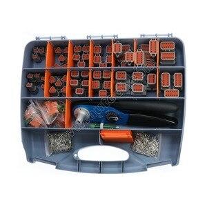 471 шт. серый Deutsch серии DT автомобильный комплект соединителей с твердыми клеммами щипцы + 16-20AWG Твердые Клеммы + ящик для инструментов