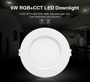 FUT068 6W RGB+CCT LED Downlight AC100-240V Round Smart Led panel light dimmable compatible APP/2.4G Hz RF FUT092 remote control