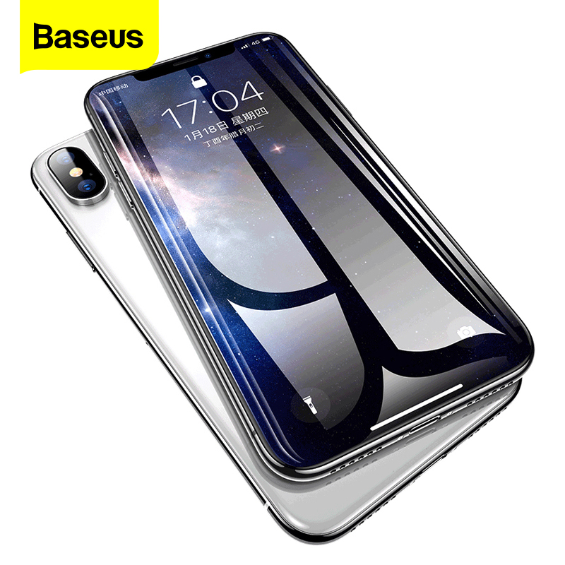 Baseus 0.3mm Screen Protector Tempered Glass For iPhone Xs Max XR X S R Xsmax Protection Protective Glass Film For iPhonexs Max(China)