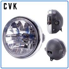 CVK Motorcycle Headlight Headlamp Head Lamp For HONDA Honda Cb400 Cb500 Cb1300 Hornet 250 600 900 Vtec Vtr250 Running Light 7 round led headlight lamp with color drl for honda cb 400 500 1300 hornet 250 600 900 vtr 250 x4 honda motorcycle headlight