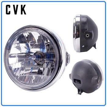 цена на CVK Motorcycle Headlight Headlamp Head Lamp For HONDA Honda Cb400 Cb500 Cb1300 Hornet 250 600 900 Vtec Vtr250 Running Light