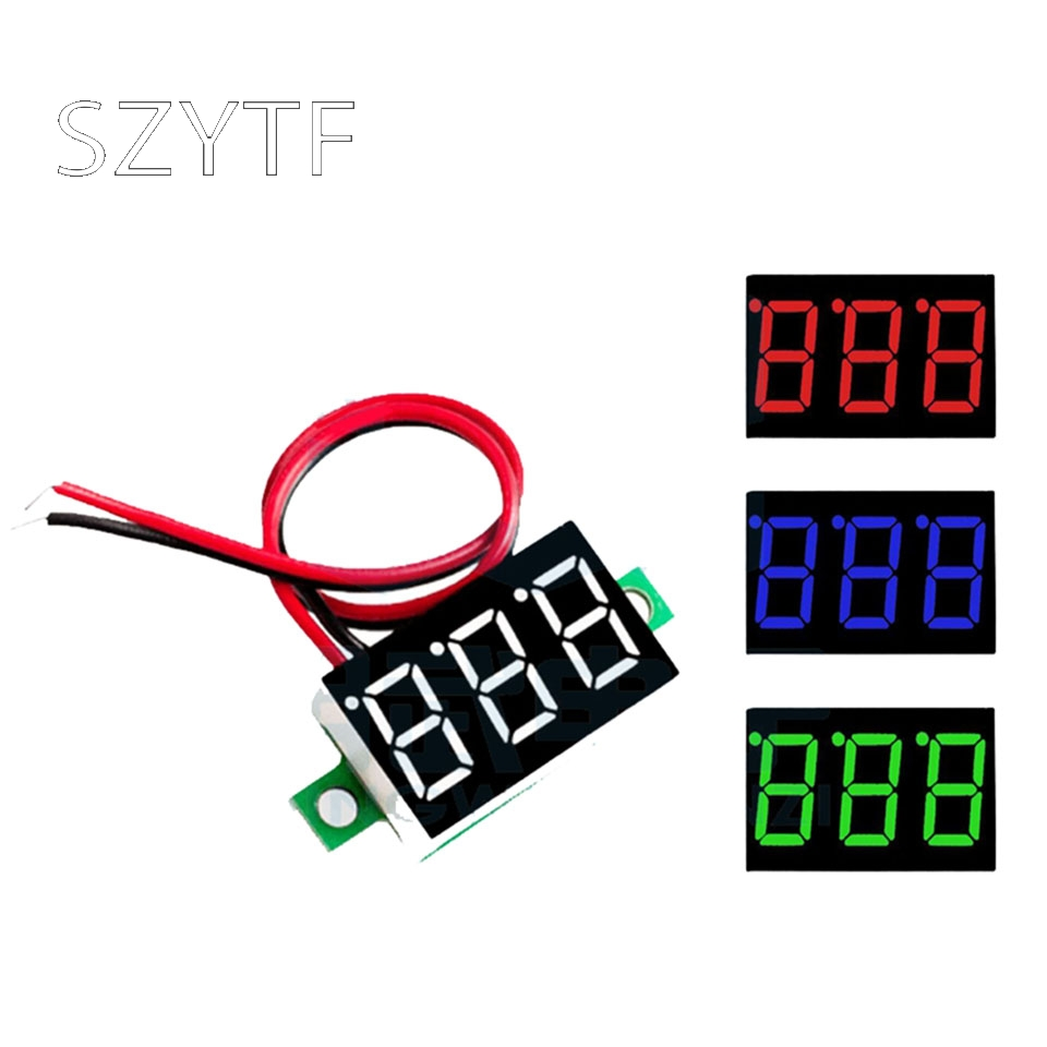 Two Wire Voltmeter 0.36 Inch DC4.5V 30V Voltage DC Voltmeter Motorcycle Number Table DRO