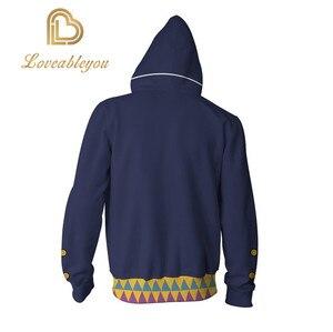 Image 3 - JOJOS BIZARRE ADVENTURE Kujo Jotaro Costumes JOJO Hoodies Jackets Coat Cosplay 3D Printed Zip up Hoodies Sport Sweatshirts
