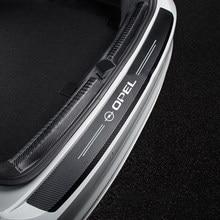 Carbon fiber Car Rear Bumper Stickers Trunk Guard Plate Stickers For opel astra g h j insignia zafira corsa d c vivaro styling
