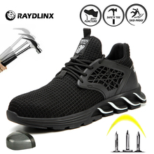 RAYDLINX Steel Toe Safety Shoes Lightweight Breathable Industries Construction Work Shoes