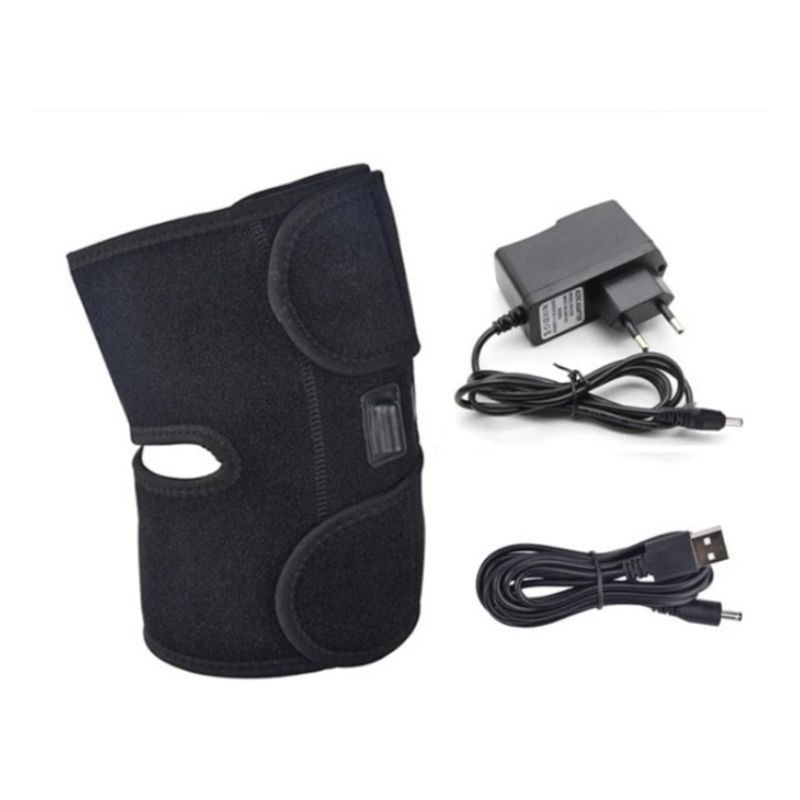 Unisex USB Heating Knee Brace Warm Support Wrap For Hot Cold Therapy Pain Relief