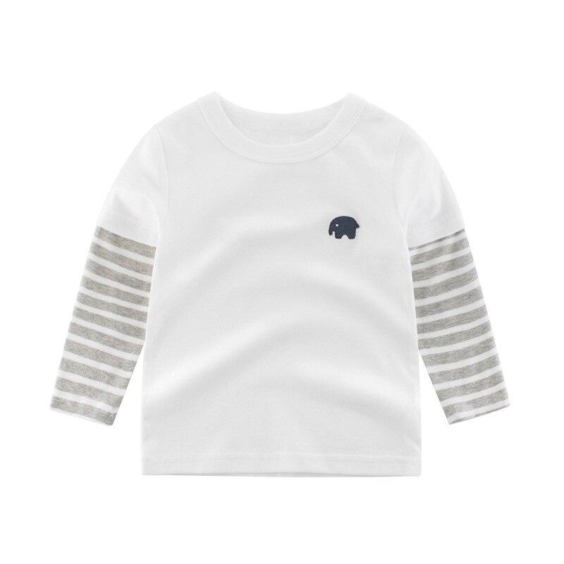 Hd54e116e36124b95a29ba404c50b38bbF 2020 Children Boys Girls Clothes T-shirt Cotton Long Sleeve Elephant Cartoon Tees s Kids Baby Boys Bottoming Shirts 27 Kids