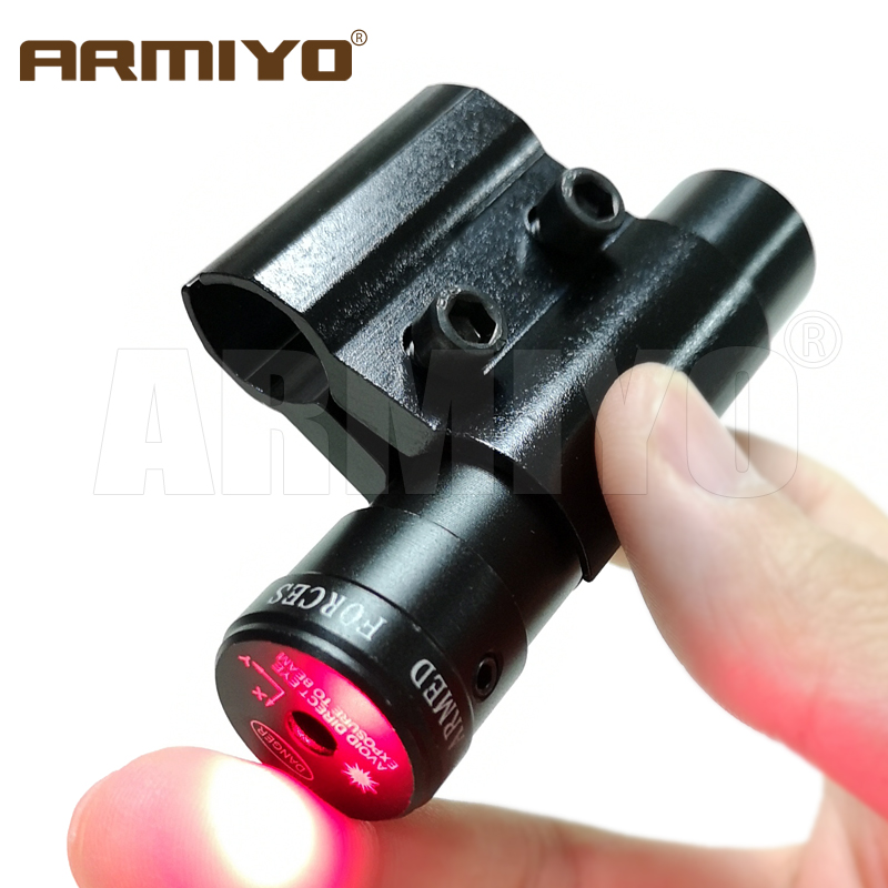 Armiyo Tactical 635-655nm Red Dot Laser 200m Range Point Sight Scope 12.5mm to 25.4mm Range Parallel Clip Mount For Rifle Barrel