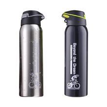 500 мл бутылки для воды для горного велосипеда, езды на велосипеде, двойные Термосы Из Нержавеющей Стали, теплые чашки для воды, кувшин, спортивный чайник