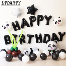 Rysunek przedstawiający pandę folia balon kreskówka balon ze zwierzęciem Panda balon dekoracja urodzinowa Globos zabawka dla dzieci balon dostaw tanie tanio LTDARTY Okrągły Folia aluminiowa LTP0001 Dzień ziemi Powrót do szkoły Rocznica Party Birthday party Ślub i Zaręczyny