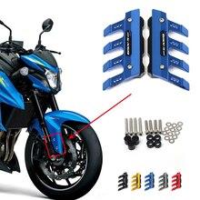 โลโก้สำหรับSUZUKI GSX S1000 GSXS1000 GSX S1000Fรถจักรยานยนต์CNCอลูมิเนียมด้านหน้าMudguard Anti Dropป้องกันSliderฝาครอบ