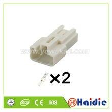 Frete grátis 5 conjuntos 2pin 4.8mm fio habitação plug conector macho elétrico 7282-1025