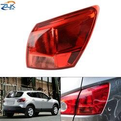 ZUK внешняя хвост светильник задний фонарь для Nissan Qashqai Dualis J10 2008 2009 2010 2011 2012 2013 2014 2015 задний светильник Taillamp