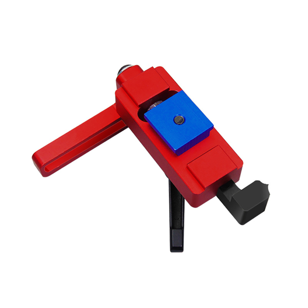 Woodworking Tool Durable Aluminum Alloy Easy Operate For Sliding Chute Length Limit Miter Track Stop Accurate T-Track