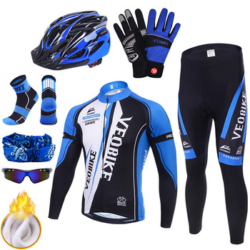 Pro Cycling Jersey Team Mountain Bike Clothing Men Bicycle Clothes Winter Thermal Warm Outdoor Sport Cycle Wear Set Accessories wosawe cycling jersey sets winter thermal sports pro jersey triatlon bike bicycle clothing jackets pants men women