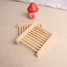 Natürliche Holz Seife Dish Bad Zubehör Home Storage Organizer Bad Dusche Platte Dauerhaft Tragbare Seife Tray Halter 1PC