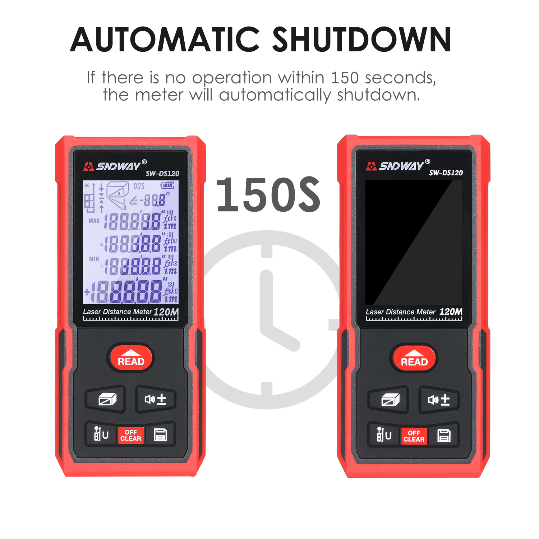 Sndway laser medidor de distância handheld digital