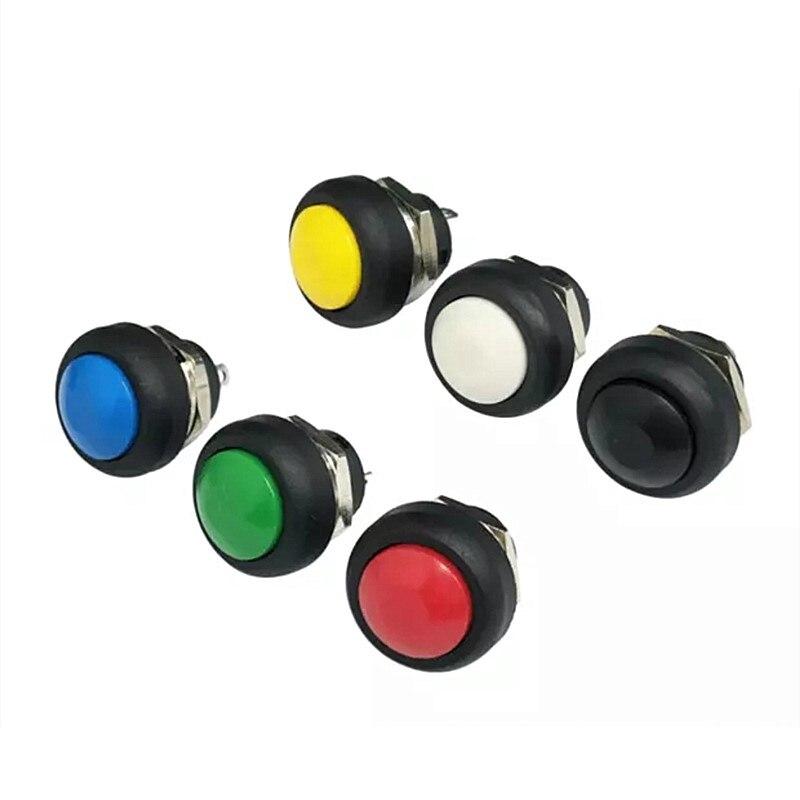Bouton-poussoir commutateur /à bouton-poussoir en m/étal imperm/éable 12mm Momentary Toggle Top