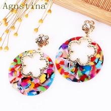 Agustina Bohemian Fashion Earrings Jewelry Drop Earrings For Women Punk Earring Dangle pendientes Acetate Green Girls Star kpop