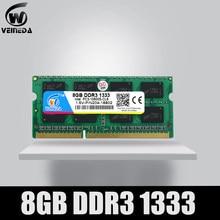 Memória ram veineda, 8gb 4gb ddr3 ddr3 1333 PC3-10600 sodimm ddr 3 para notebook