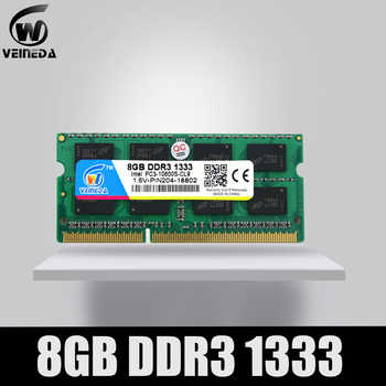 VEINEDA 8GB 4GB DDR3 Memory Ram ddr3 1333 PC3-10600 Sodimm Ram ddr 3 For Notebook - Category 🛒 Computer & Office
