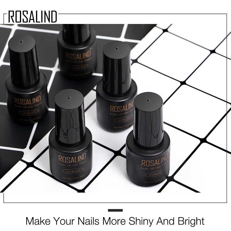 ROSALIND uña Gel polaco 7ml Nail Art Semi permanente UV uñas todo para manicura capa superior para Base Gel esmalte Primer Gel barniz