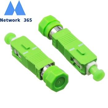 цена на Free Shipping 5pcs/lot  FC Female to SC APC Male Fiber Optic Adapter Singlemode FC-SC Fiber Optical Adapter