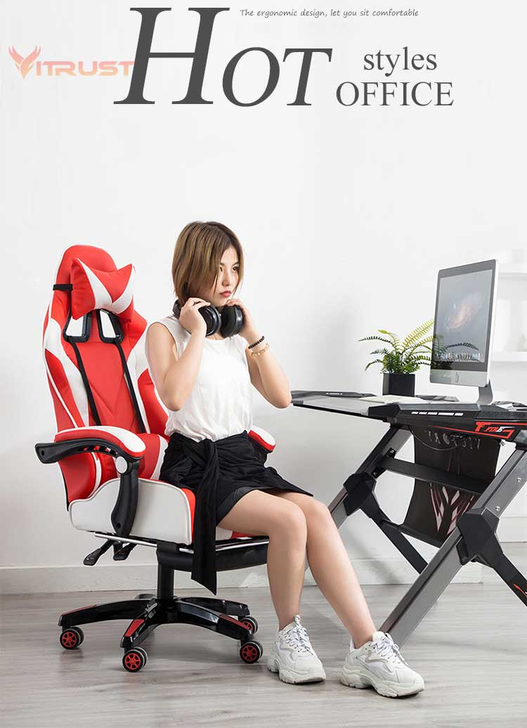 Ergonomic Office Chair Computer Office Chair Racing Gaming Chair Adjustable Rolling Swivel Chair With Wheels Office Chairs Aliexpress