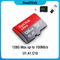 Sandisk Ultra 128GB Micro SD GB GB 256GB 16 64 32G 400GB Micro SD Card SD/32 64 128 gb microSD TF Cartão de Memória Flash Cartão de Memória para o Telefone