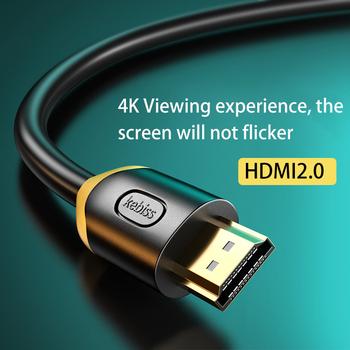 Kebiss dla Xiaomi Mi Box kabel kompatybilny z HDMI 8K 60Hz 4K 120Hz 48 gb s kable cyfrowe dla PS5 PS4 Splitter 8K HDMI-kompatybilny tanie i dobre opinie CN (pochodzenie) Kabel do przesyłania danych Dada
